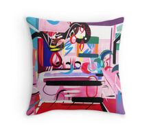 Pink Interior II Throw Pillow