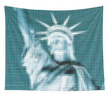 "Pixels Print ""TURQUOISE LIBERTY"" Wall Tapestry"