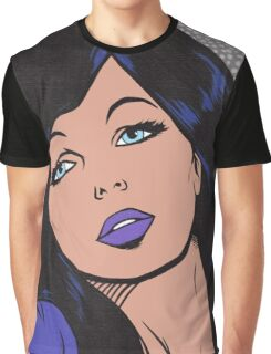 Dark Goth Comic Girl Graphic T-Shirt