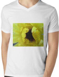 Wake Up Marigold Mens V-Neck T-Shirt