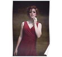 portrait of a beautiful red-haired girl Poster
