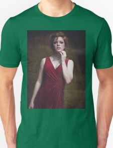 portrait of a beautiful red-haired girl Unisex T-Shirt