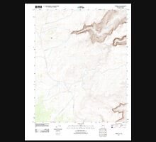 USGS TOPO Map Arizona AZ Horse Flat 20111109 TM Unisex T-Shirt