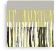 Yellow Rising - Abstract Stripes in Yellow, Grey, Black & White Canvas Print