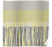 Yellow Rising - Abstract Stripes in Yellow, Grey, Black & White Poster