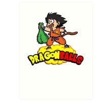 Dragon Balls - Dragon Ball Z DBZ parody pun Art Print