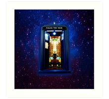 Space And Time traveller Box that More Bigger on the inside Art Print