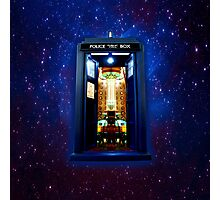 Space And Time traveller Box that More Bigger on the inside Photographic Print