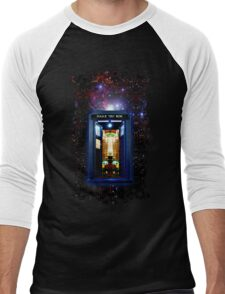 Space And Time traveller Box that More Bigger on the inside Men's Baseball ¾ T-Shirt