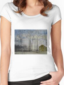 Waiting For Snow Women's Fitted Scoop T-Shirt