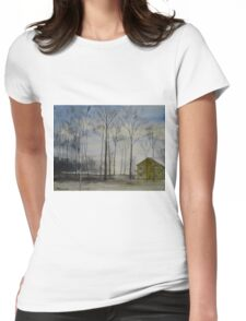 Waiting For Snow Womens Fitted T-Shirt