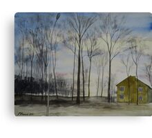 Waiting For Snow Canvas Print