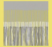 Yellow Rising - Abstract Stripes in Yellow, Grey, Black & White Kids Clothes