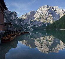 The magic of Braies Lake by Elena Martinello