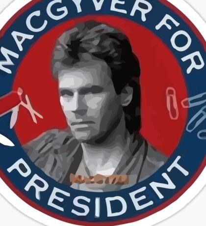 Macgyver For President Sticker