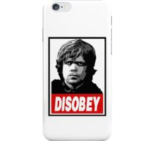 Tyrion Lannister Disobey Stencil - Obey Parody iPhone Case/Skin