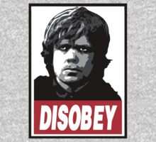 Tyrion Lannister Disobey Stencil - Obey Parody by datthomas