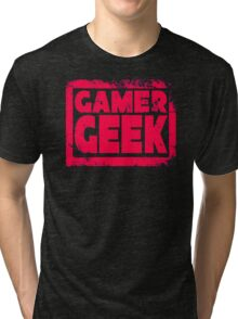 Gamer Geek Grunge Tri-blend T-Shirt