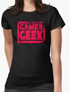 Gamer Geek Grunge Womens Fitted T-Shirt