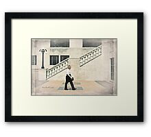 Walking, Château Laurier, Ottawa Framed Print