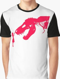 Girl With Trex Graphic T-Shirt