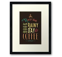 Coffee, book & rainy day II Framed Print