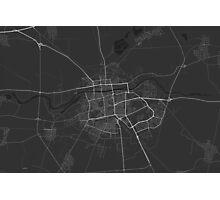 Plovdiv, Bulgaria Map. (White on black) Photographic Print