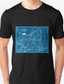 0319 Railroad Maps Map showing the location of the N Y Oswego Midland R R with existing and proposed connection January 1st 1869 by Van R Richmond State Engr Inverted Unisex T-Shirt