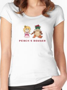 Peach 4 Bowser Women's Fitted Scoop T-Shirt