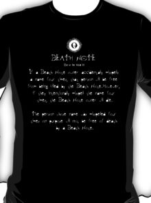 Death Note Rule 11 T-Shirt