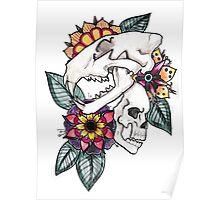 Cat Bouquet Poster