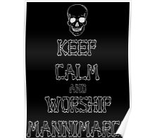 Keep Calm and Worship Mannimarco (for dark coloured materials) Poster