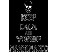 Keep Calm and Worship Mannimarco (for dark coloured materials) Photographic Print