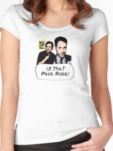 Is That Paul Rudd? Ver. 2 Women's Fitted Scoop T-Shirt