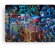 Skull Meets Bush Canvas Print