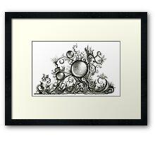 Harmonic, Ink Drawing Framed Print