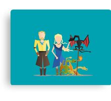 #3 Daenerys, Jorah and the dragons Canvas Print