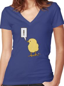 Little bird Women's Fitted V-Neck T-Shirt