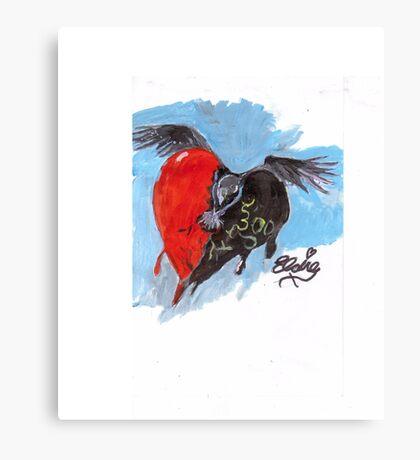 face the raven Canvas Print