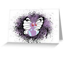 Butterfree - splatter Greeting Card
