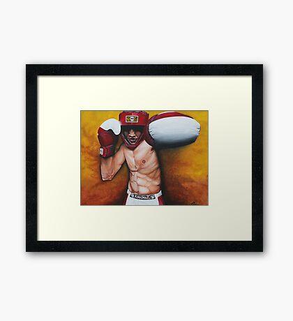 Knockout Framed Print