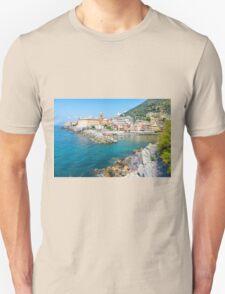 View of Nervi fishing village, Italy. Unisex T-Shirt