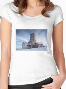 Sniezne Kotly - Radio and TV Broadcasting Centre Women's Fitted Scoop T-Shirt