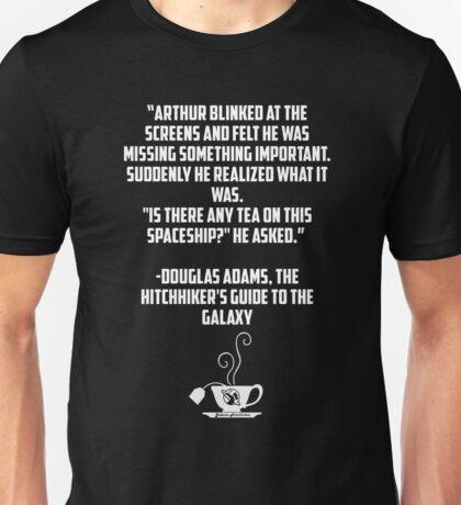 Tea and Spaceships Unisex T-Shirt