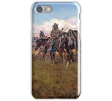In The Enemy's Country by Charles Marion Russell (1921) iPhone Case/Skin
