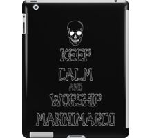 Keep Calm and Worship Mannimarco (for dark coloured materials) iPad Case/Skin