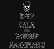 Keep Calm and Worship Mannimarco (for dark coloured materials) T-Shirt