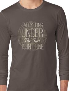 Everything under the Sun is In Tune Pink Floyd Lyrics Long Sleeve T-Shirt