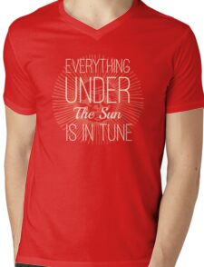 Everything under the Sun is In Tune Pink Floyd Lyrics Mens V-Neck T-Shirt