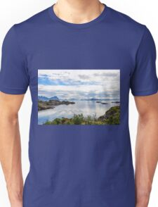 Lofoten coastline near Svolvaer, Norway Unisex T-Shirt
